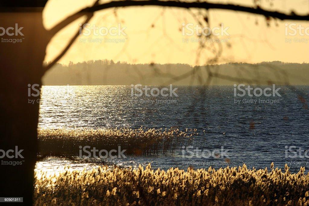 Sonnenuntergang-vesper Lizenzfreies stock-foto