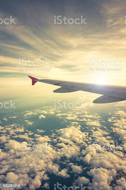 Photo of Sunset View From An Airplane