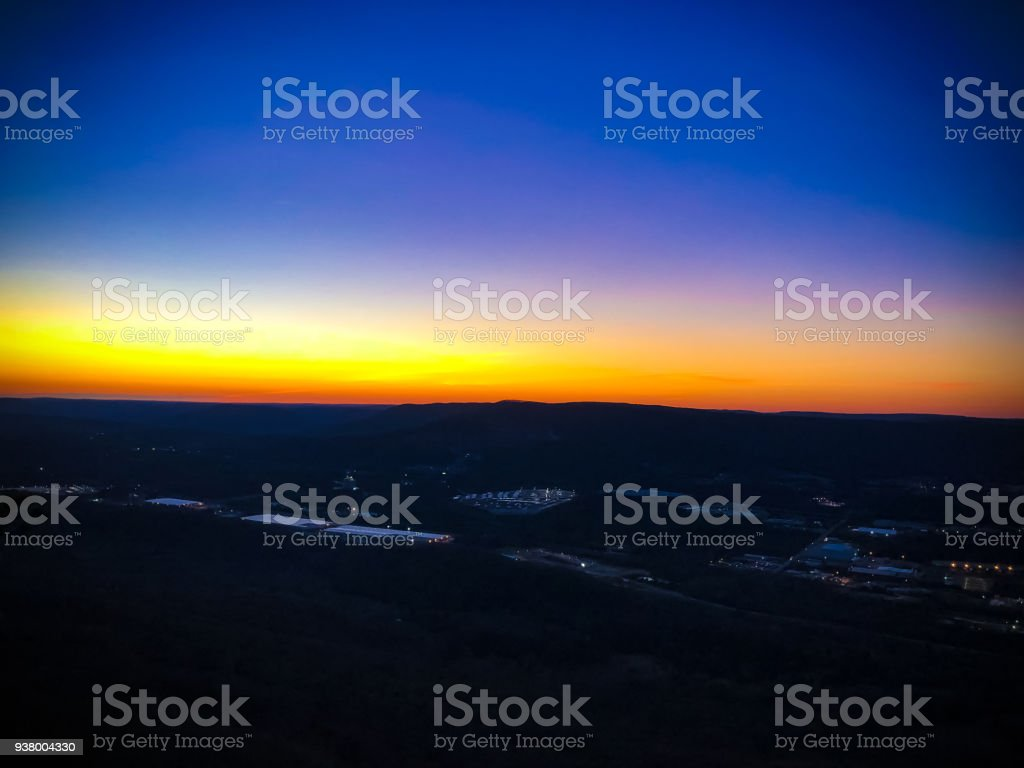Sunset view from Lookout Mountains stock photo
