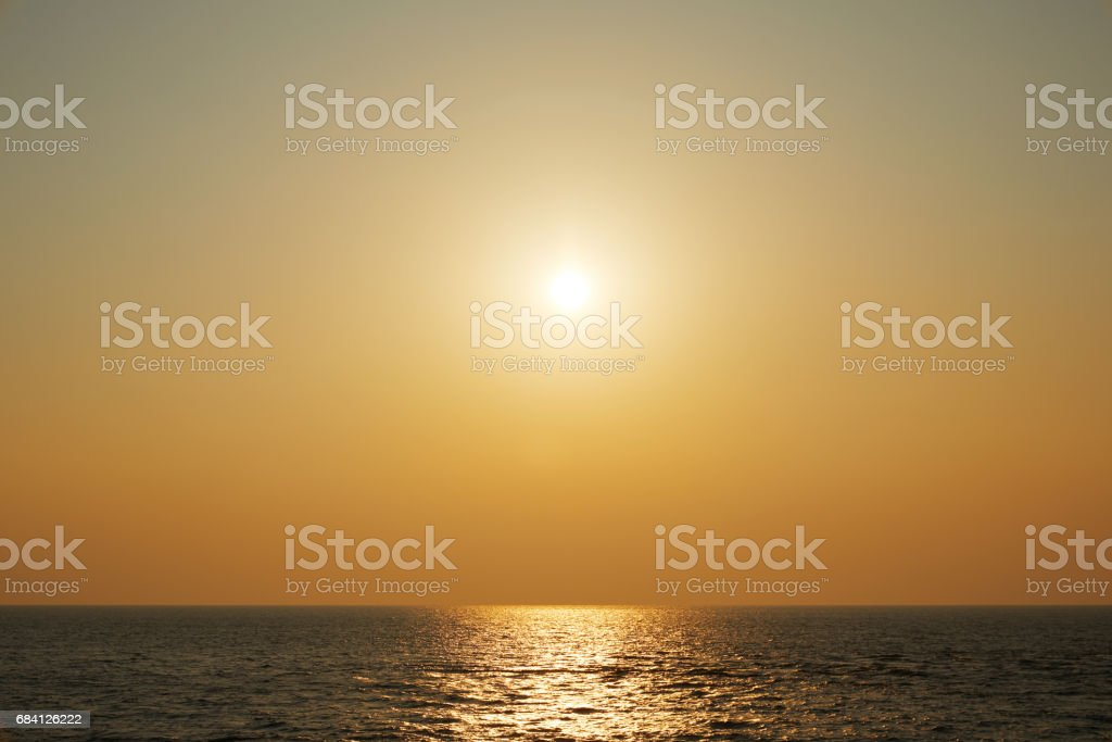 sunset view with sea foto stock royalty-free