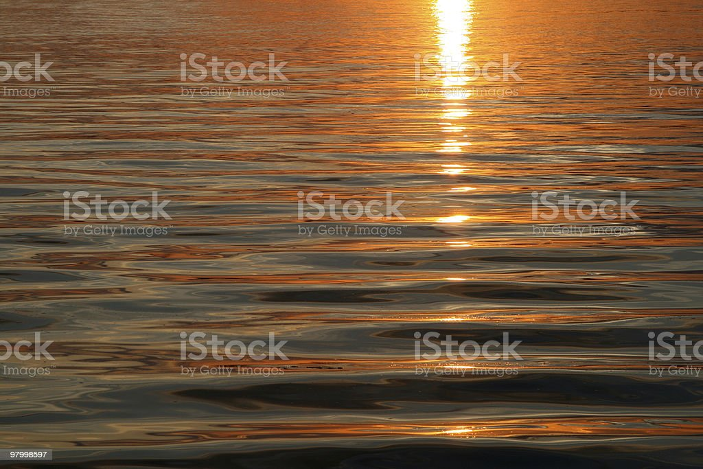 sunset water background royalty free stockfoto