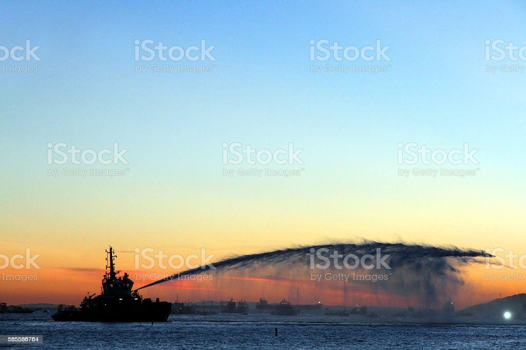 Sunset Water stock photo