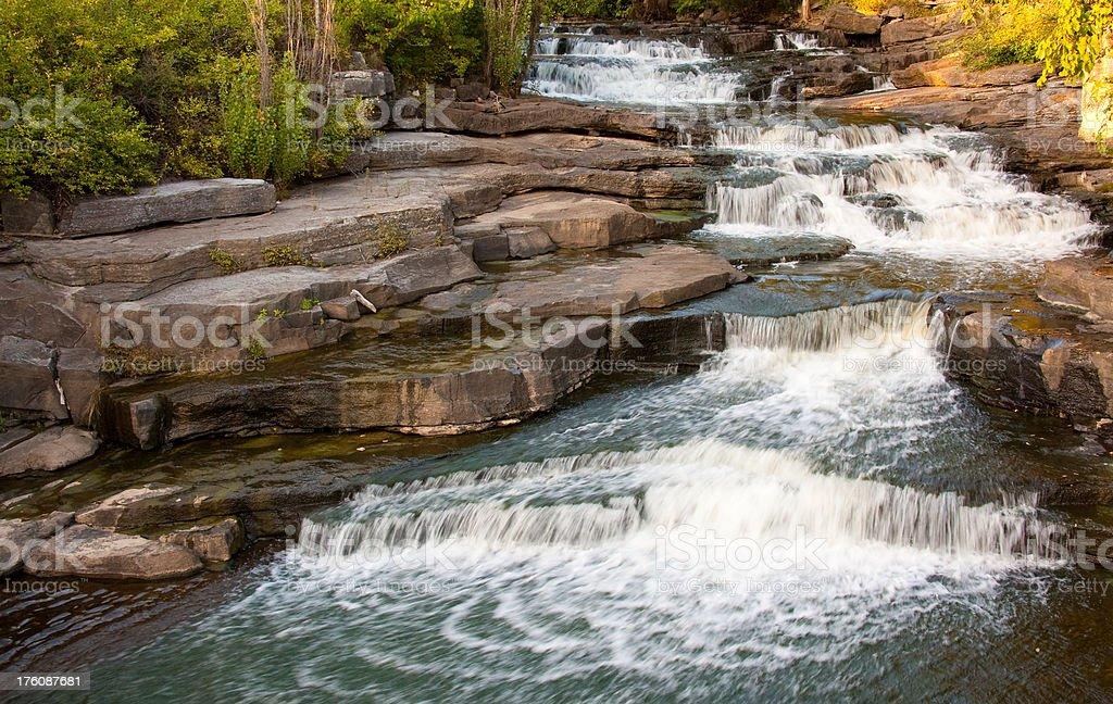 Sunset Waterfall royalty-free stock photo