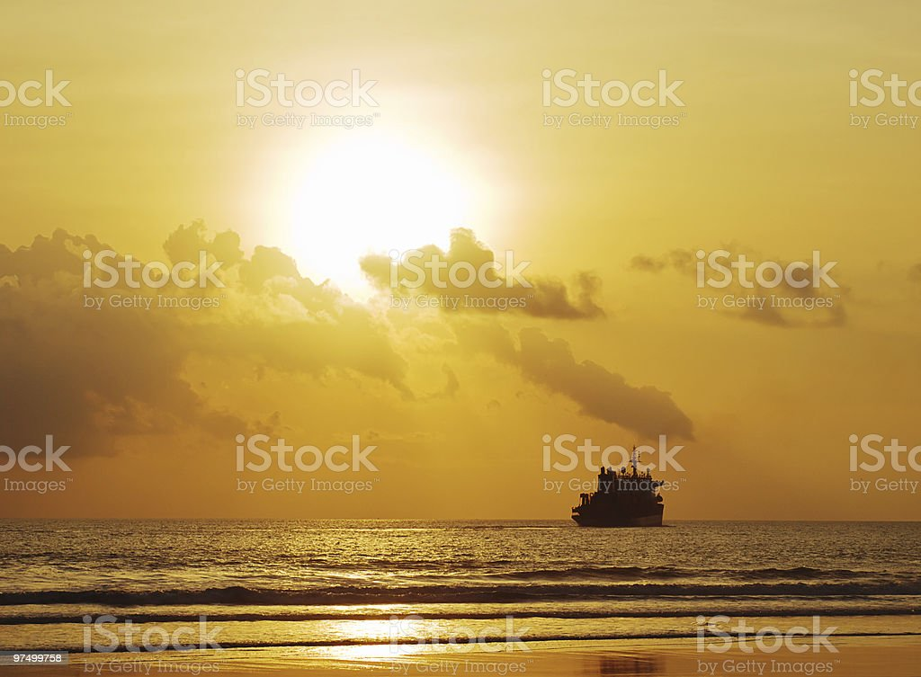 Sunset waterscape royalty-free stock photo