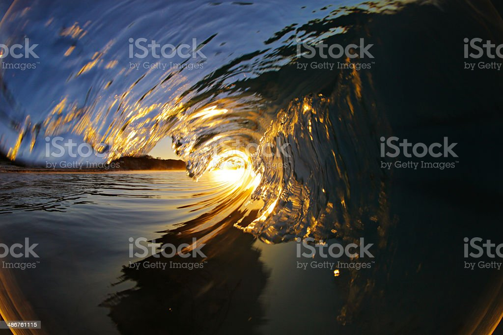 Sunset Wave stock photo
