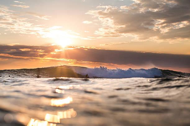 Sunset Wave stock photo