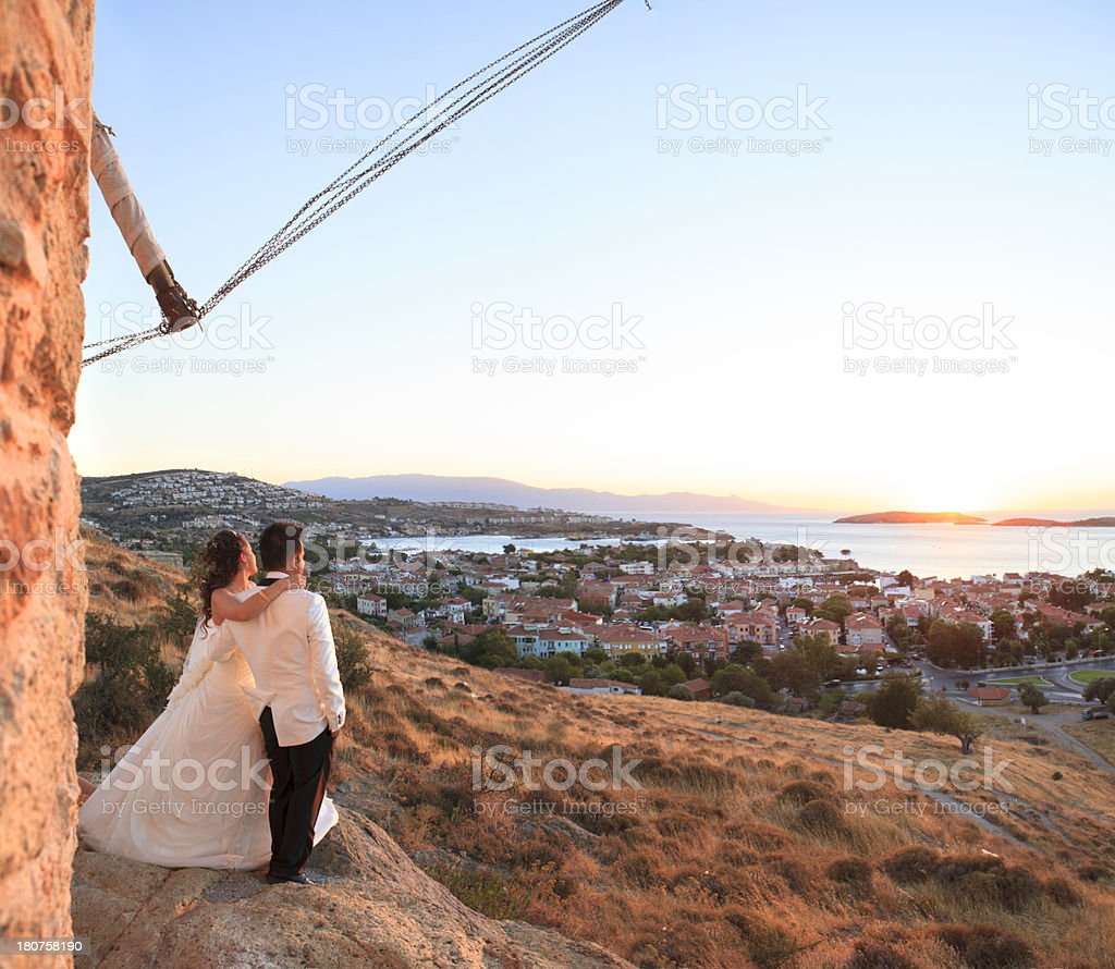 Sunset Wedding royalty-free stock photo