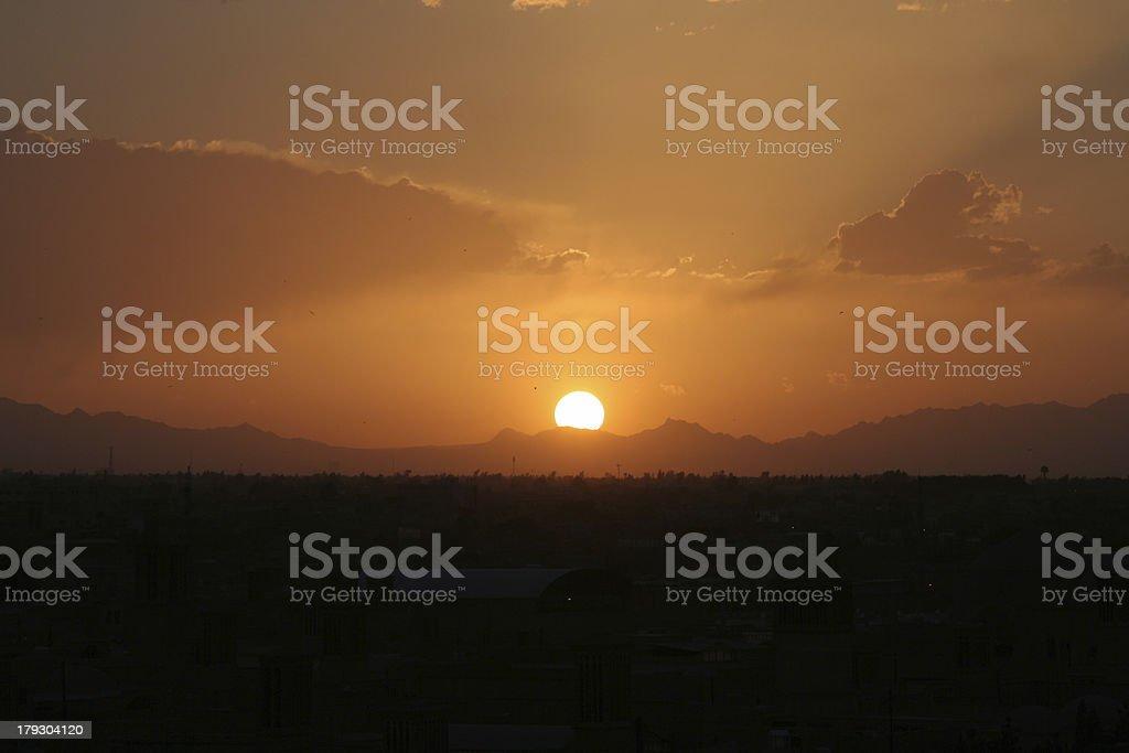 Sunset Orange Himmel mit – Foto