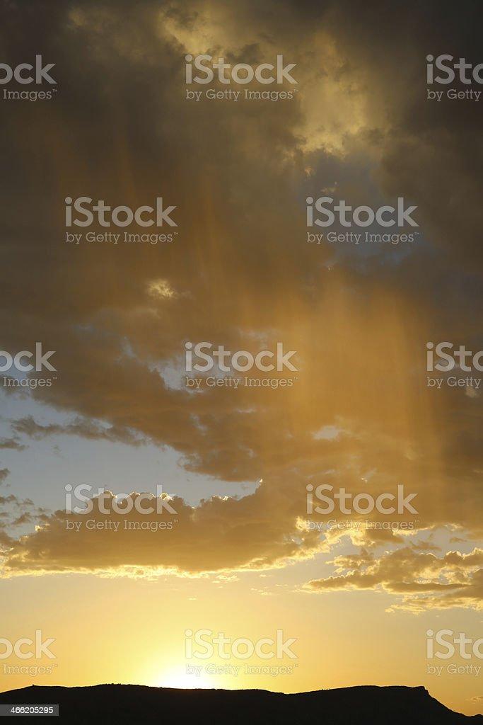 Sunset with Rain royalty-free stock photo