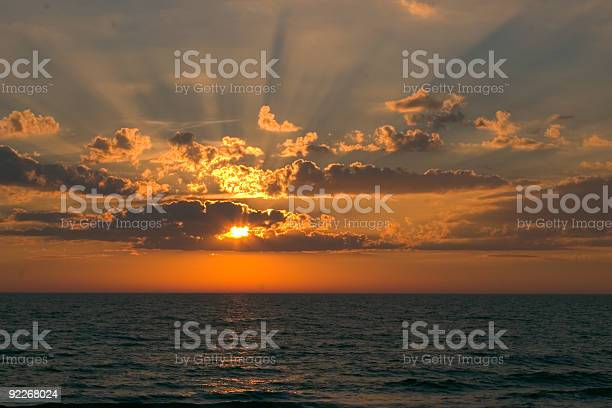 Photo of Sunset with Rays of Light
