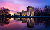 istock Sunset with Temple of Debod in Madrid 472984222