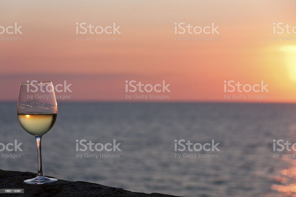 Sunset with wine - Royalty-free After Work Stock Photo