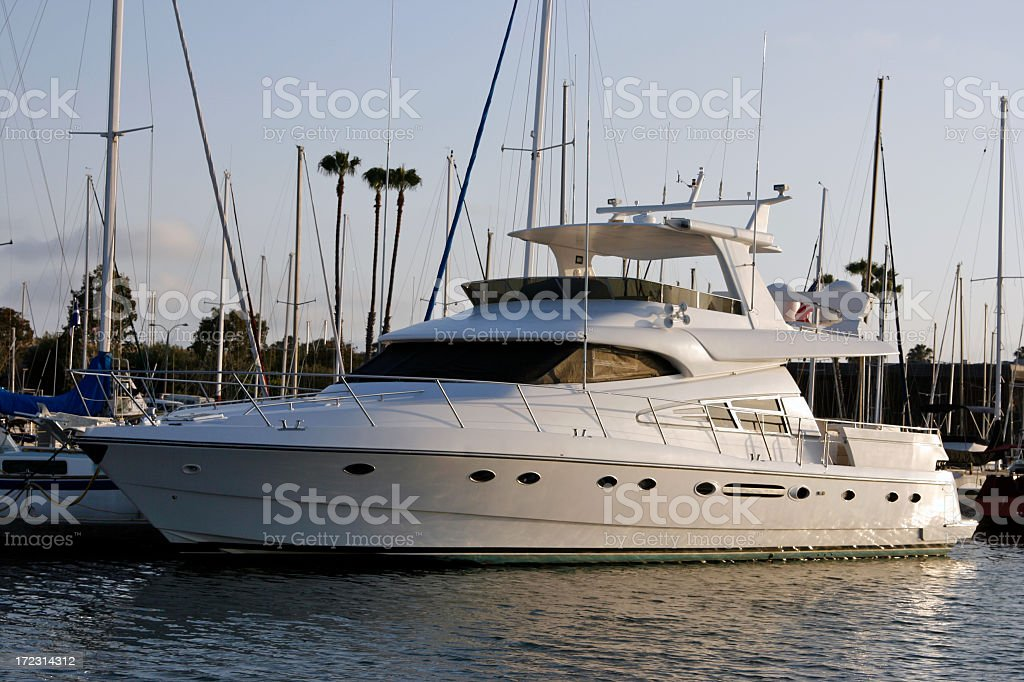 Sunset Yacht royalty-free stock photo