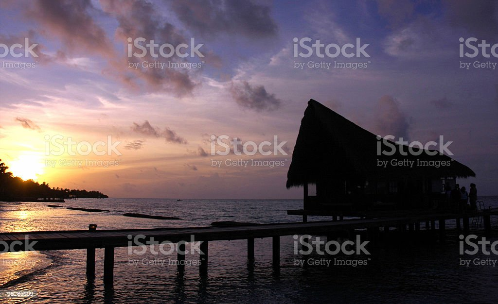 Sunset/dusk at the pier/jetty. royalty-free stock photo