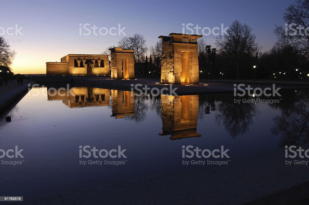 Sunsets and Reflections stock photo