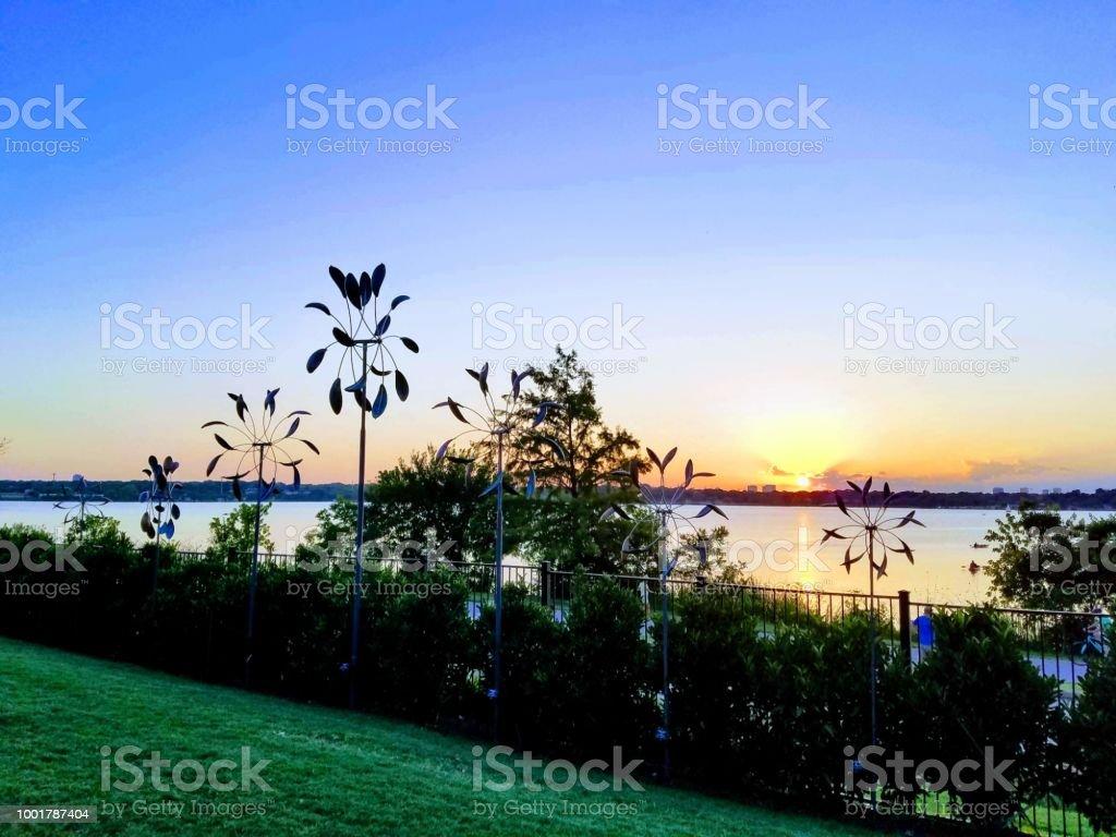 Sunsets Dallas Arboretum 1 stock photo