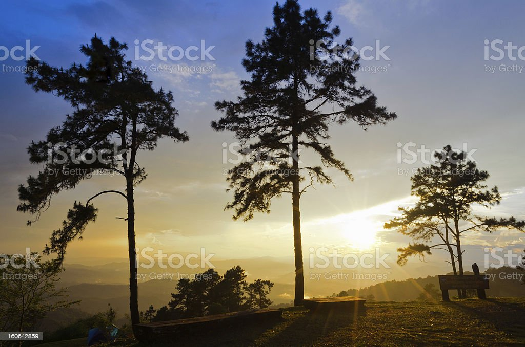 Sunsets on the mountain.. royalty-free stock photo