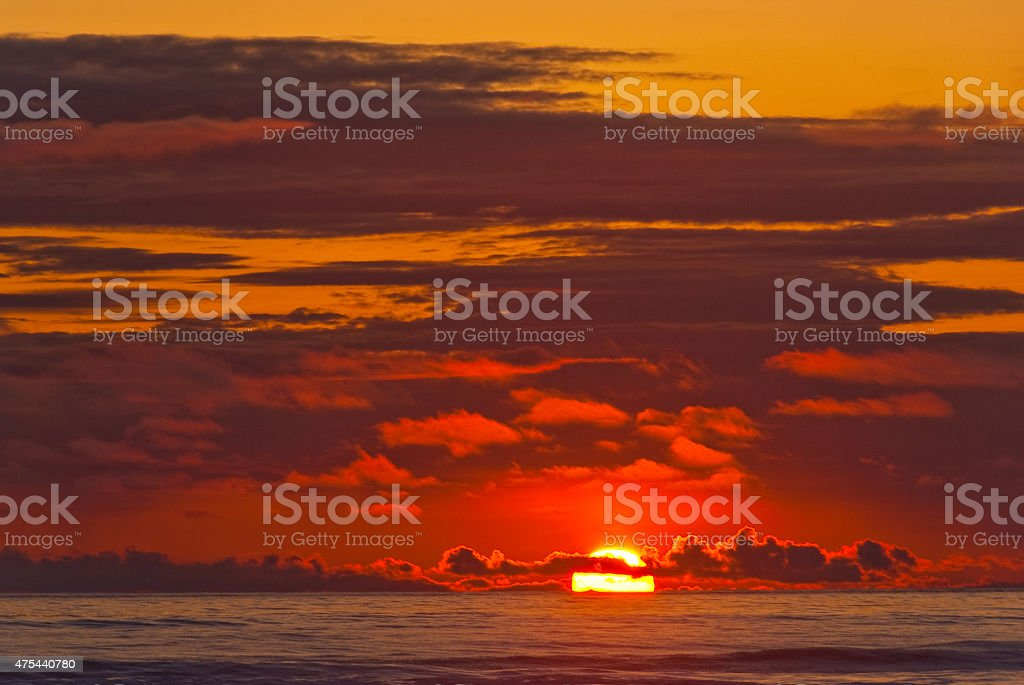 Sunset Over the Pacific Ocean royalty-free stock photo