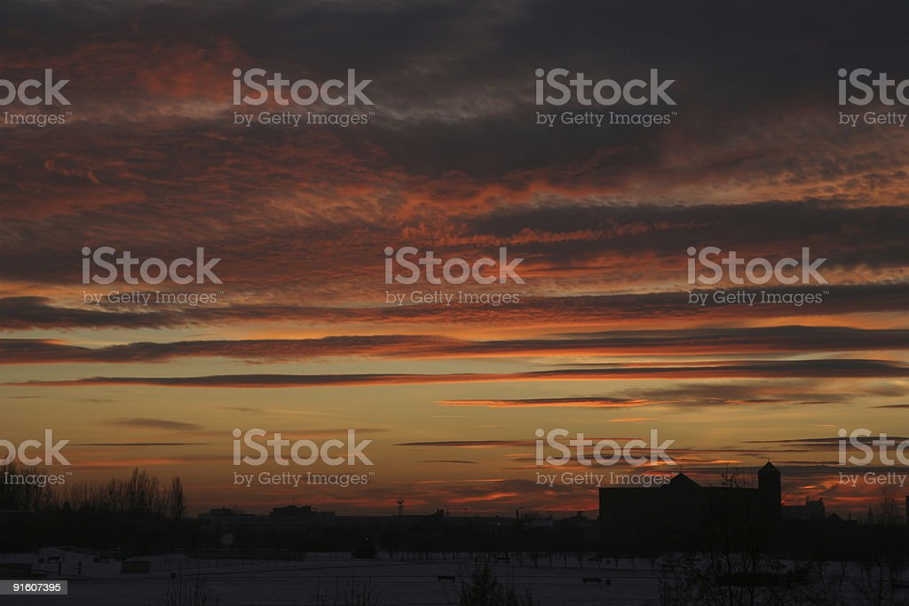 sunsetting royalty-free stock photo