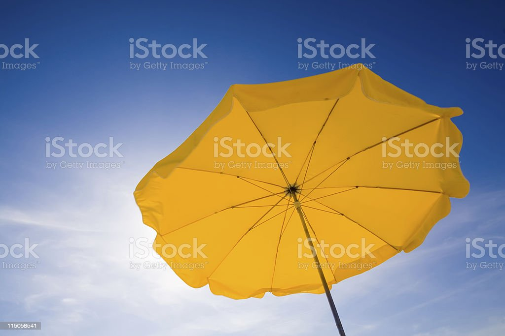 Sunshade in the sky stock photo