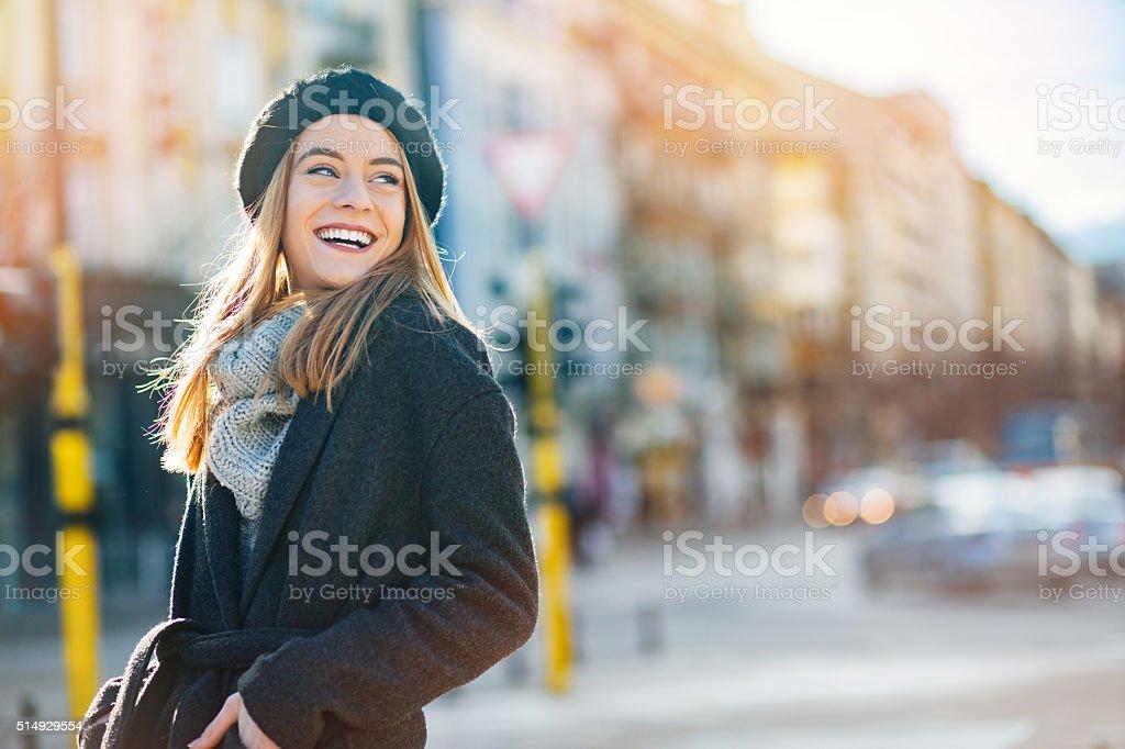 Sunshine and happiness stock photo