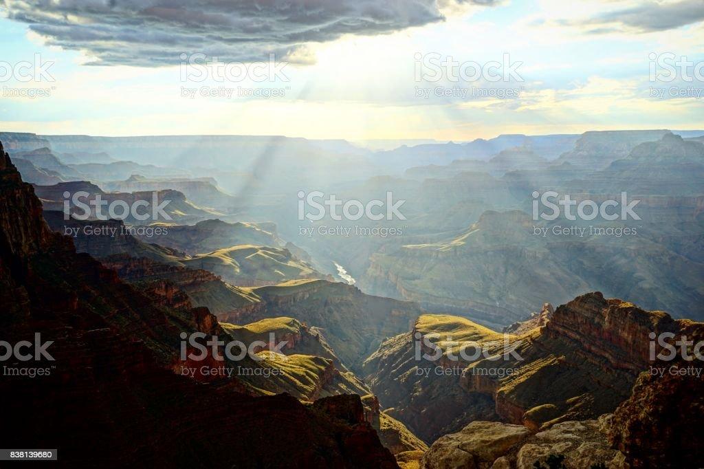 Sunshine at the Grand Canyon stock photo