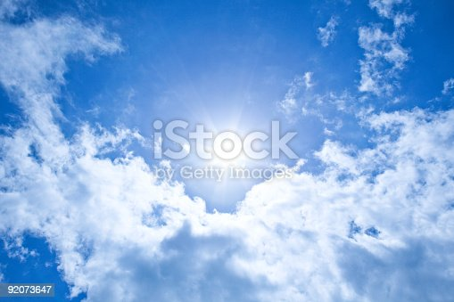 626588878 istock photo XXXL Sunshine background with clear blue sky 92073647