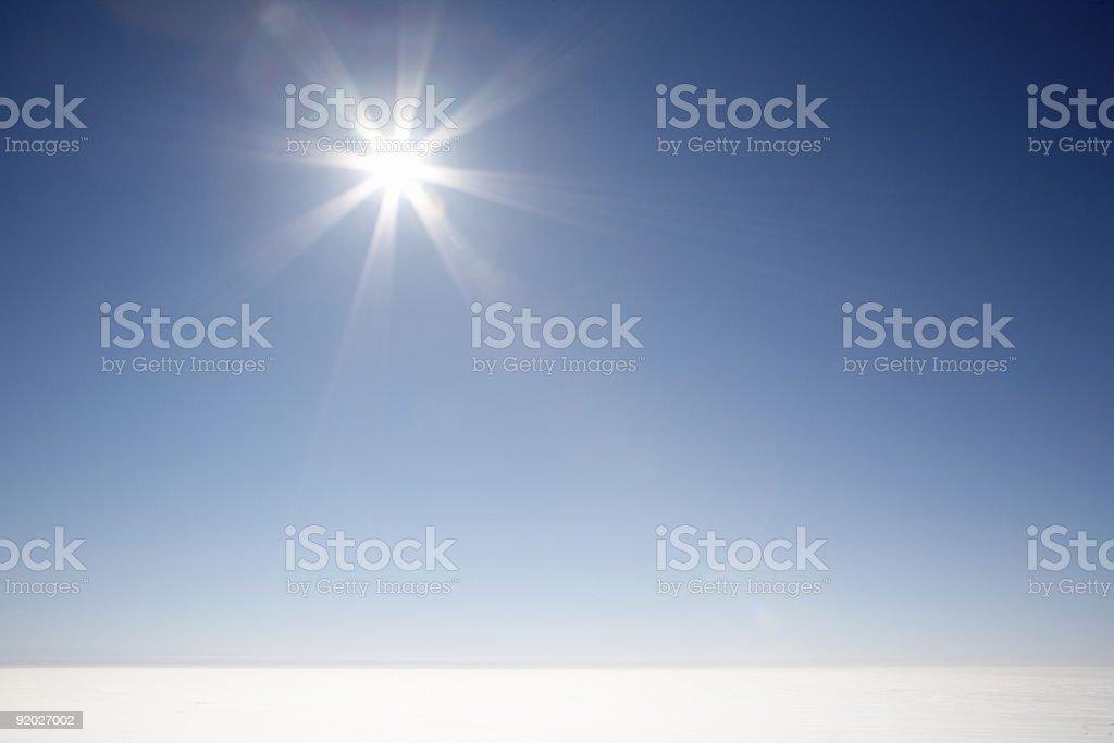 Sunshine blue sky royalty-free stock photo