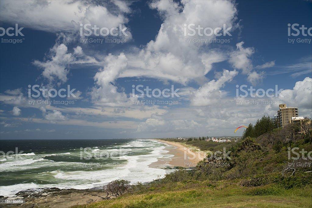 Sunshine Coast Seascape Pt Cartwright royalty-free stock photo