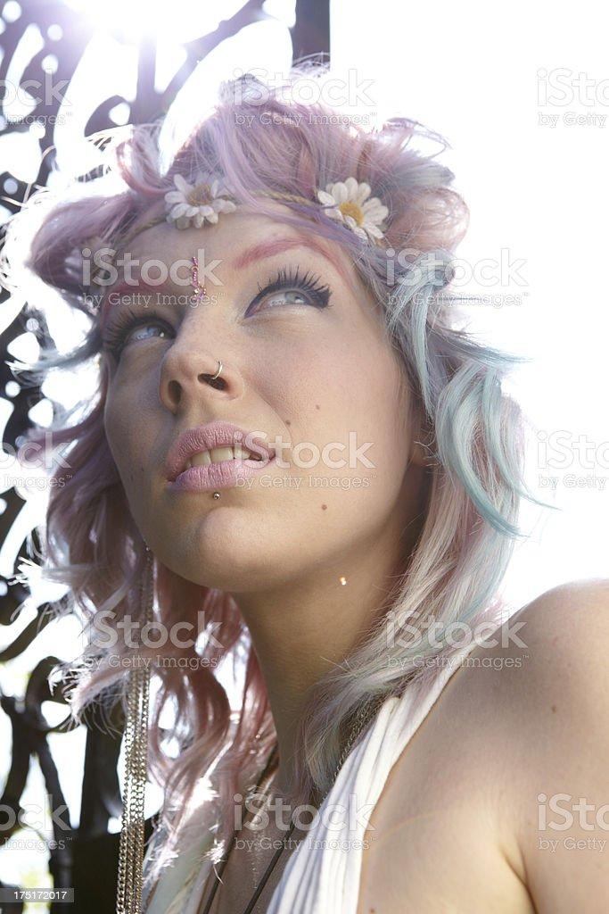 Sunshine Hippy Woman royalty-free stock photo