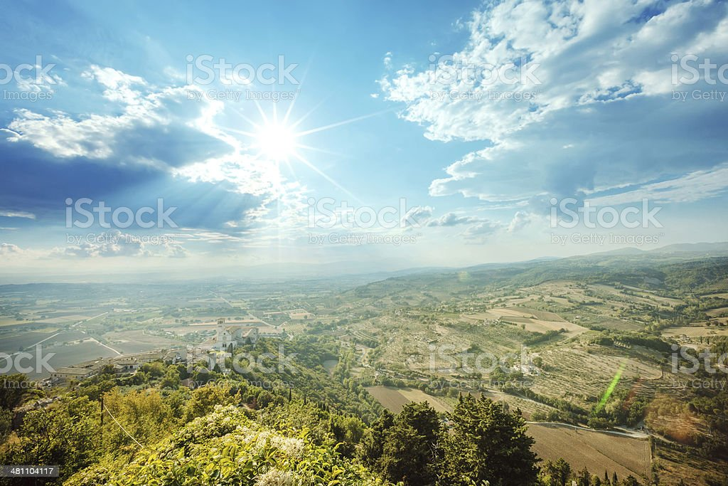 Sunshine in Assisi, Italy royalty-free stock photo