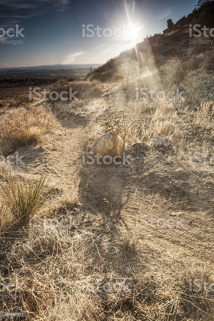 sunshine landscape recreational trail royalty-free stock photo