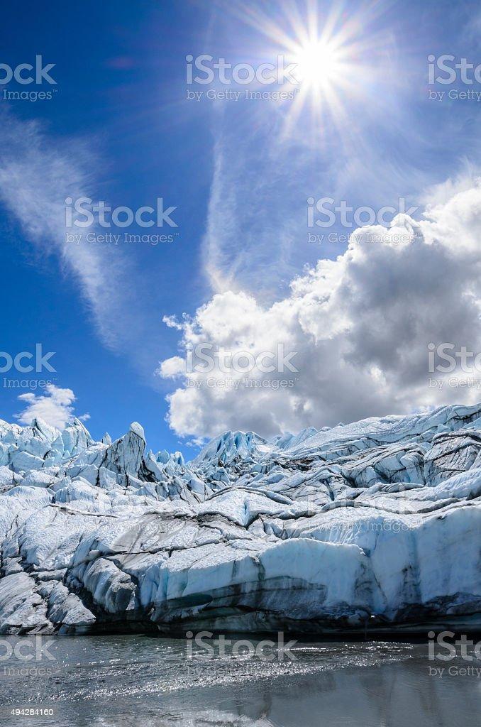 Sunshine on Matanuska Glacier stock photo