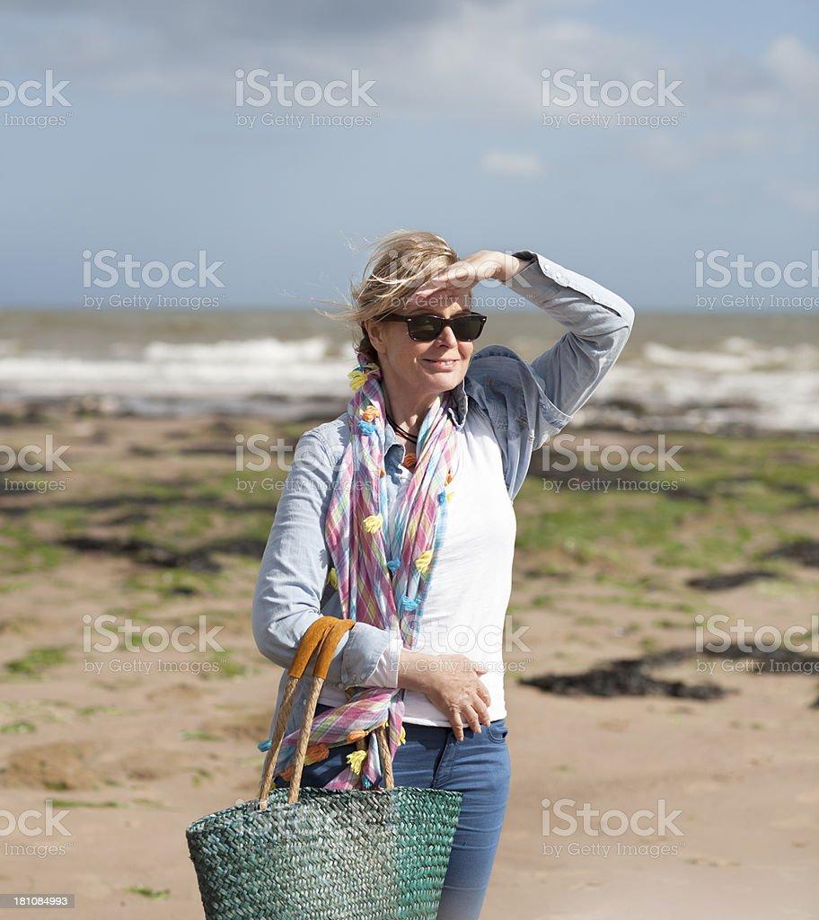 Sunshine on the beach stock photo