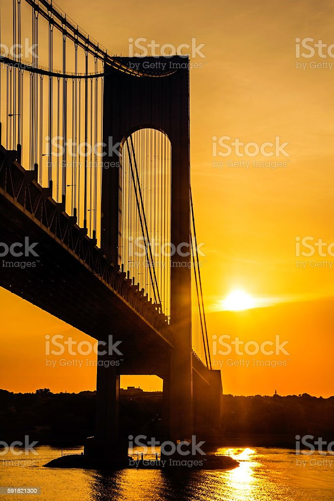 Sunshine on the Verrazano stock photo
