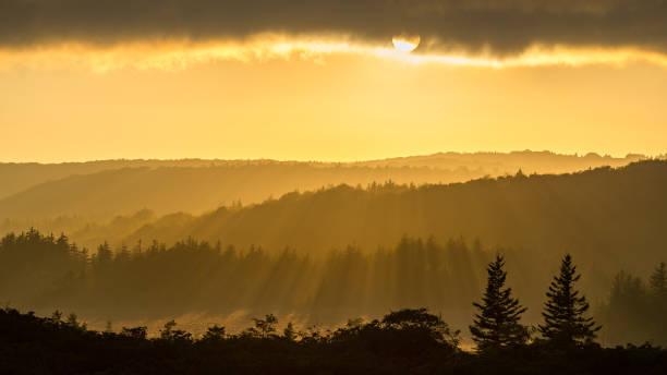 Sunshine over backcountry stock photo
