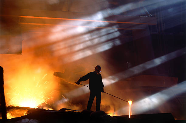 sunshine - metallurgy stock photos and pictures