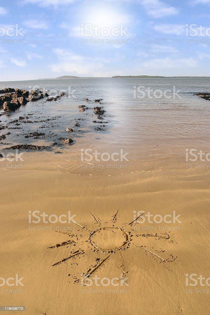 sunshine sand royalty-free stock photo