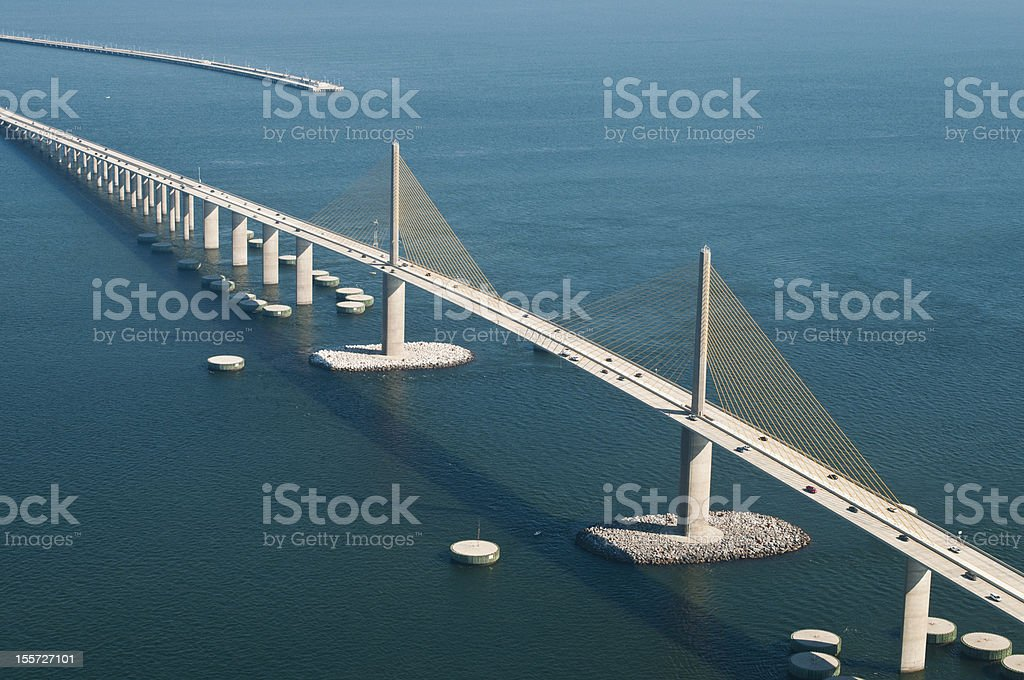 Sunshine skyway bridge and southern fishing pier stock for Sunshine skyway fishing pier