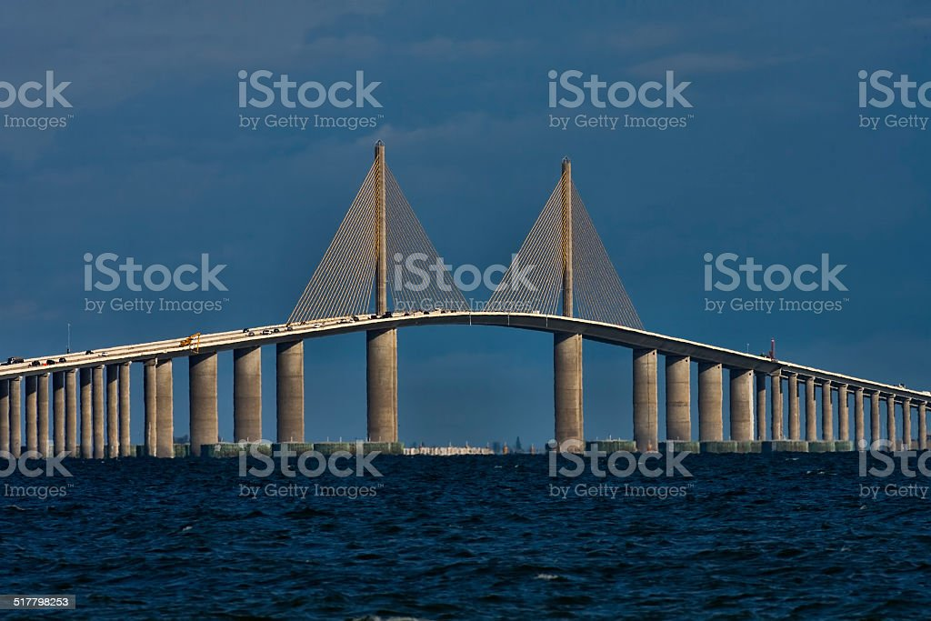 Sunshine Skyway Bridge stock photo