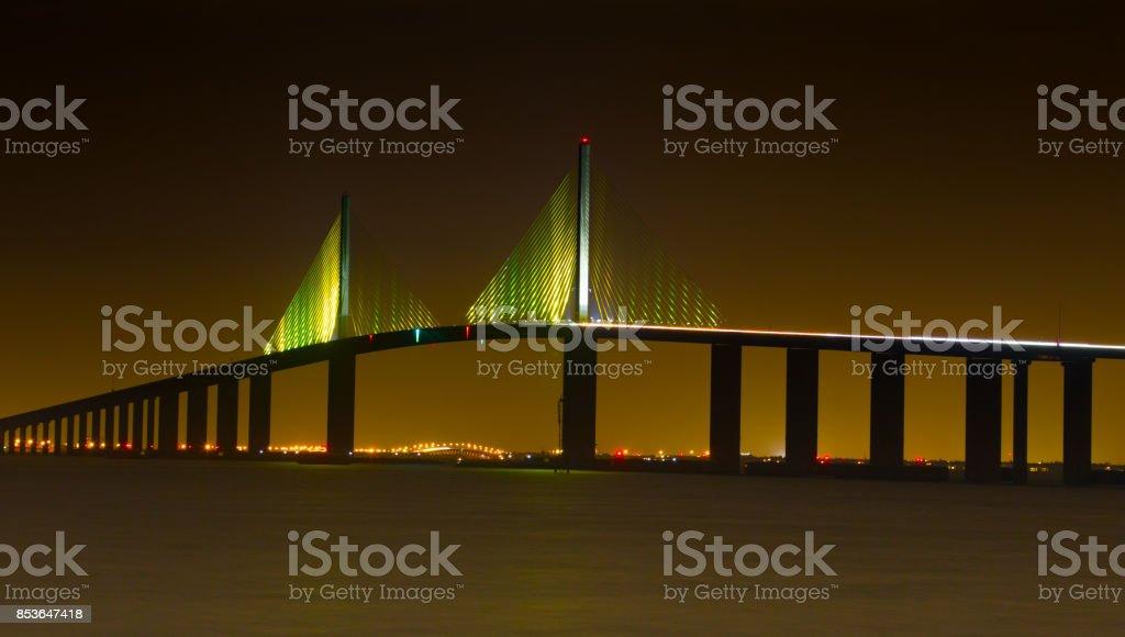 Sunshine Skyway Bridge St Petersburg Florida stock photo