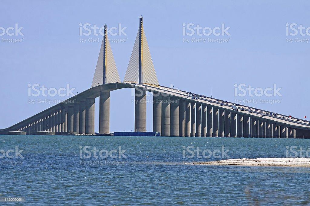 Sunshine Skyway Bridge-Tampa Bay stock photo