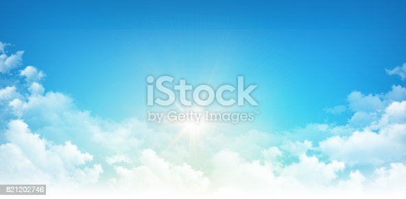 istock Sunshine through white clouds 821202746