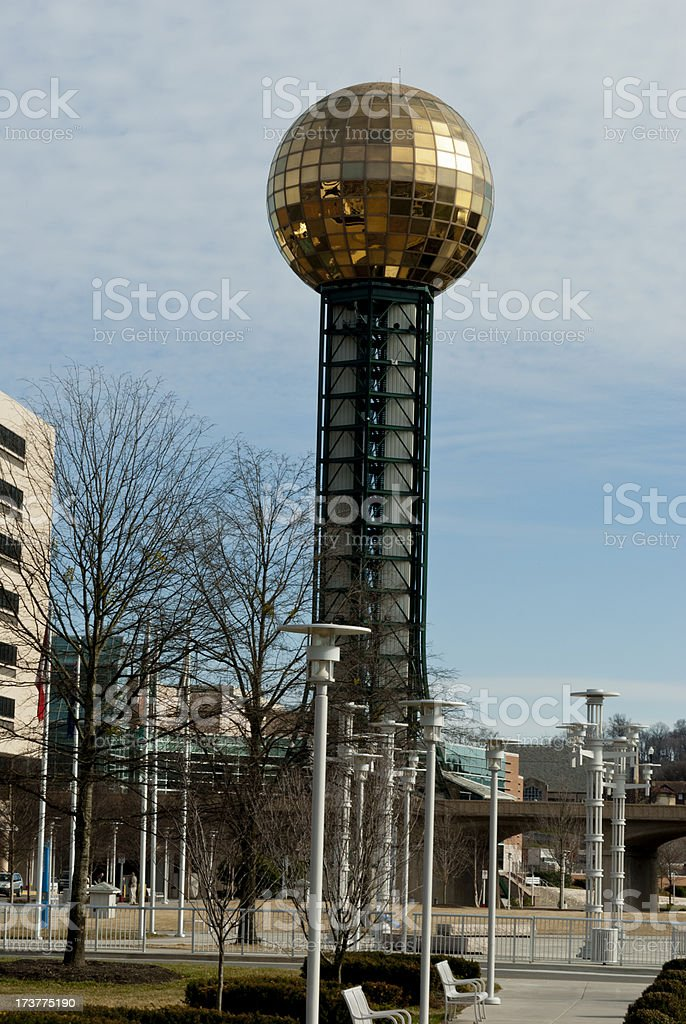 Sunsphere at Worlds Fair Park in Knoxville, TN stock photo