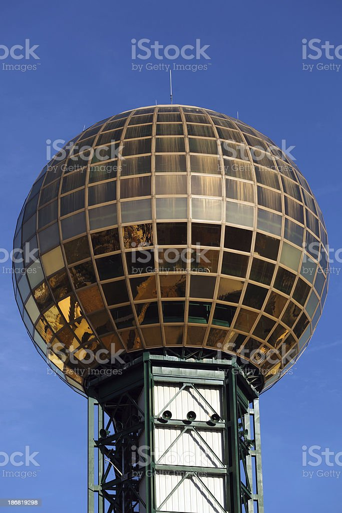 Sunsphere, Knoxville Tennessee stock photo