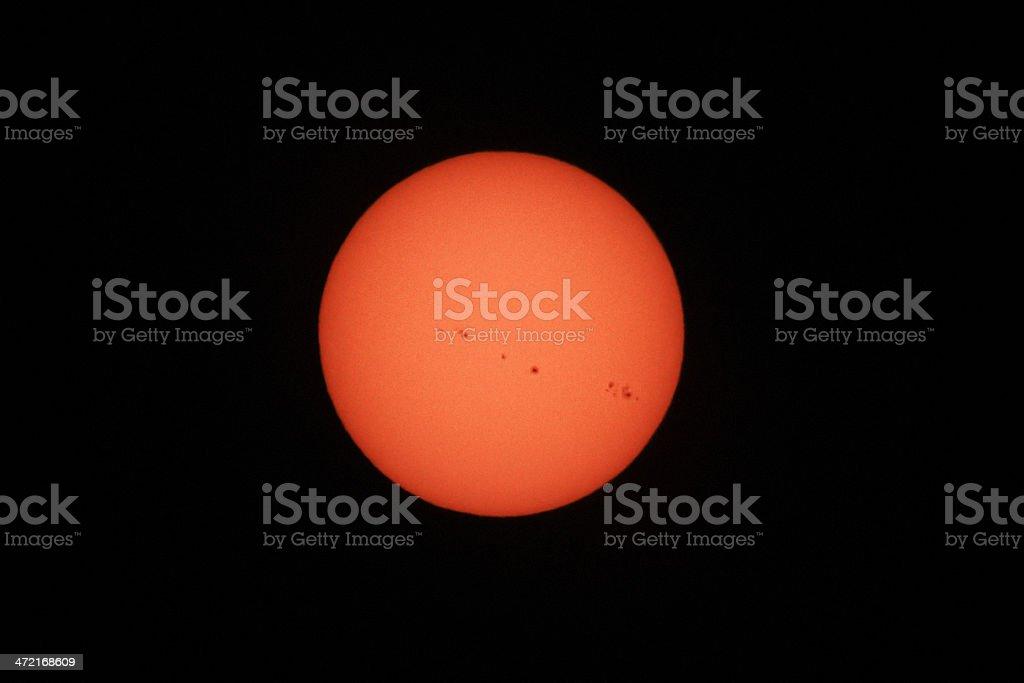 Sunspots royalty-free stock photo