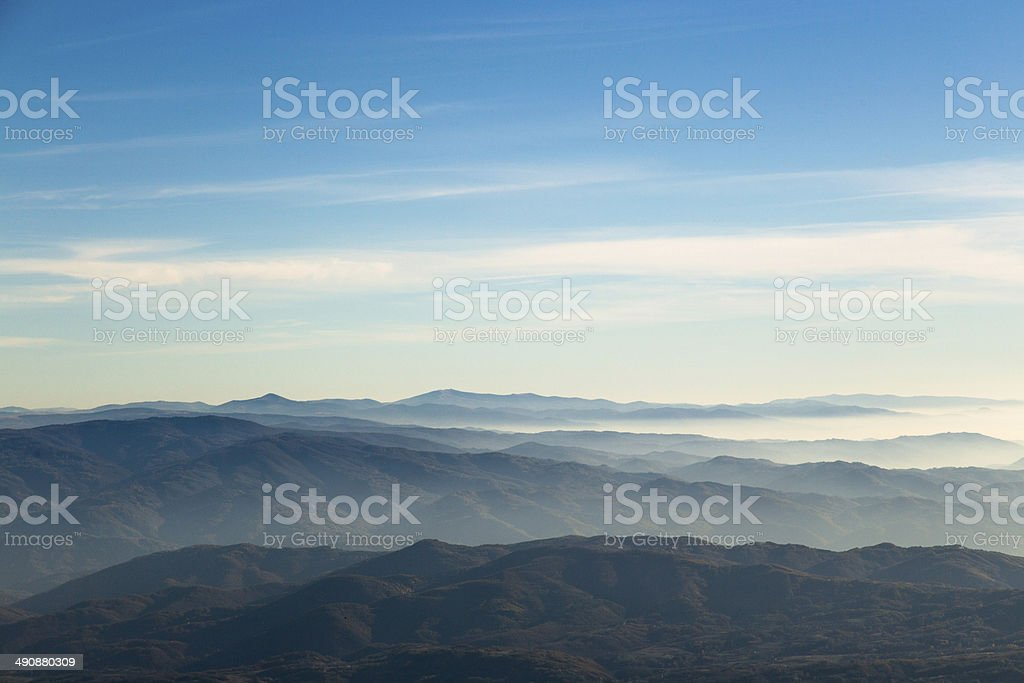 Sunsrise over mountains royalty-free stock photo