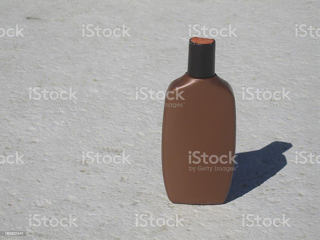 Suntan Lotion Bottle royalty-free stock photo