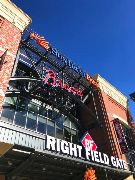 Suntrust Park entertainment area stock photo