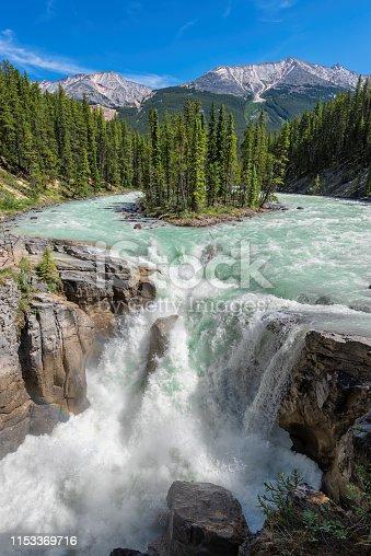 istock Sunwapta Falls in Canadian Rockies 1153369716